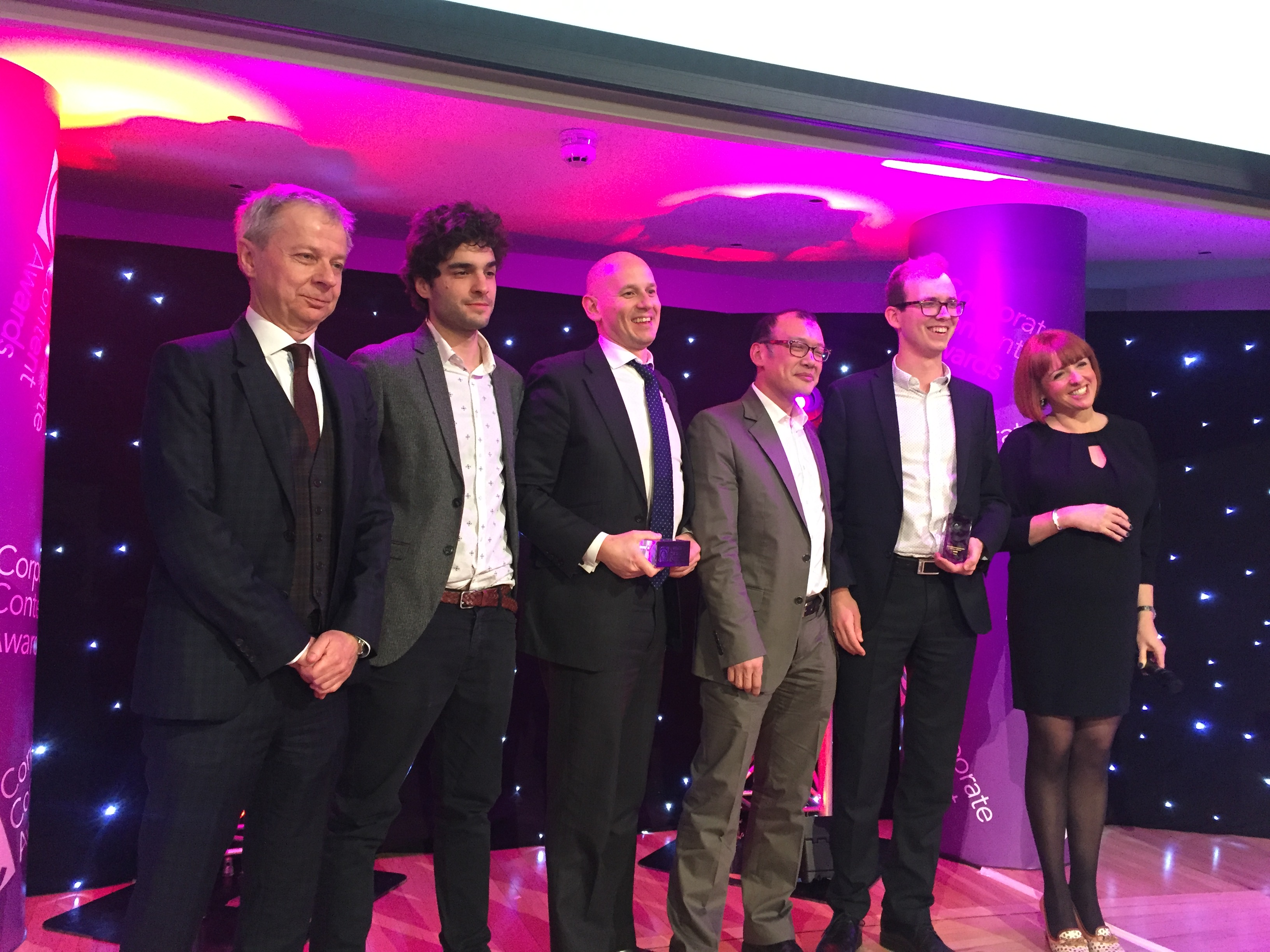 Corporate Content awards in London