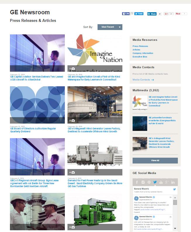 GE Newsroom_Page